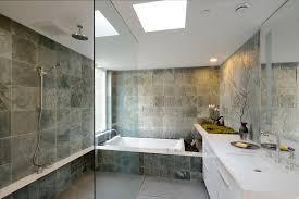 Contemporary Tile Bathroom Slate Tile Bathroom Bathroom Contemporary With Beadboard Ceiling