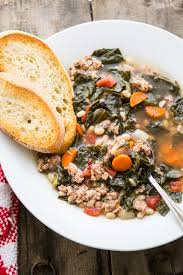 Italian Soup by Tuscan Kale White Bean U0026 Sausage Soup Hunger Thirst Play
