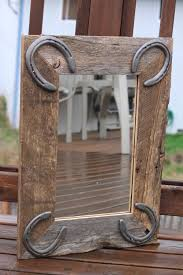 rustic wall mirror for horse lovers western or rustic by dddcort