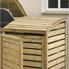 wooden bin wooden wheelie bin storage in timber cuckooland