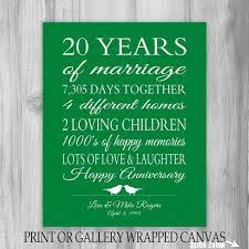 20th anniversary gift ideas for anniversary gift for husband 10th year gift for custom