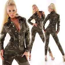 camouflage jumpsuit womens top jumpsuit camouflage overall army playsuit