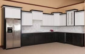 kitchen cabinet rta floor to ceiling white kitchen cabinet with ready to assemble black and white shaker kitchen cabinet with white tiles backsplash and built