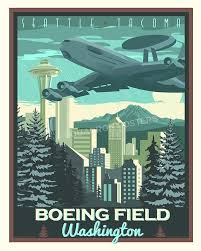 Travel Posters images Boeing field e 3 seattle poster squadron posters jpg
