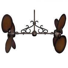 Ceiling Fans For Kitchens With Light Twin Star Iii Double Ceiling Fan Oiled Bronze With 13 Blade Options