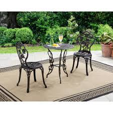 Wrought Iron Patio Bistro Set Mainstays Belden Park 3 Piece Bistro Set Red Topoffersmall Com