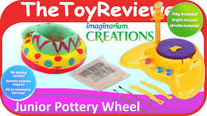 junior pottery wheel imaginarium creations unboxing toy review by