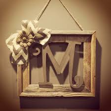 Buy Rustic Home Decor Barnwood Rustic Home Decor Frame With Initial Rustic Home