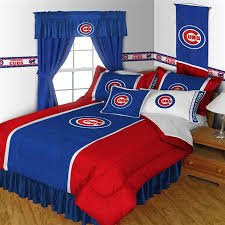 Baseball Bed Sets Chicago Cubs Mlb Comforter Sports Coverage Sidelines Chicago