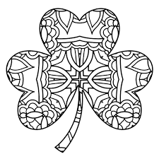 simple shamrock coloring sheets for kids four leaf clover art