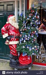 figure of santa claus with christmas tree amsterdam stock photo