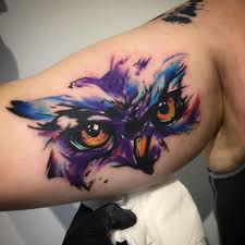 owl tattoo simple watwrcolor owl tattoo on arm tattoos u0026 piercings pinterest