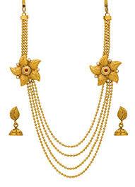 gold rani haar sets bindhani traditional gold plated rani har haar pearl