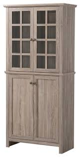 homestar 2 door glass storage cabinet reclaimed wood farmhouse