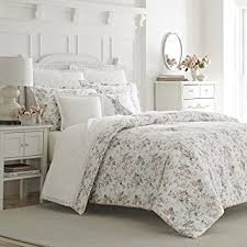rosalie flannel comforter set king pink