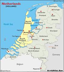 netherlands location in europe map map and map of history information page