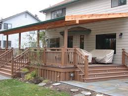 Backyard Decks Images by Images About Patio Roof Designs Covered Also Backyard Deck With