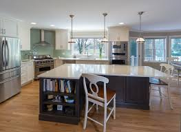 recycled countertops kitchens with white cabinets and dark floors