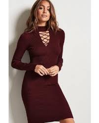 maroon sweater dress check out these deals on forever21 lace up sweater dress