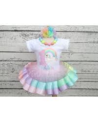 ribbon tutu sweet deal on pastel rainbow unicorn ribbon tutu unicorn birthday