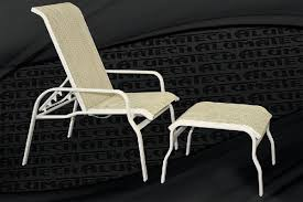 Patio Chair With Ottoman Island Sling Line Patio Furniture