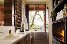 Sleek Builtin Fireplace Cool Ca Home Design Home Design Ideas - California home designs