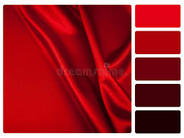 red swatch red satin colour palette swatch stock illustration illustration