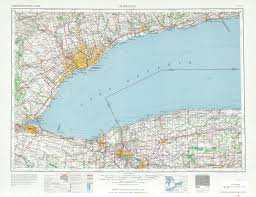 United States Topographical Map by Toronto Topographic Map Sheet United States 1962 Full Size