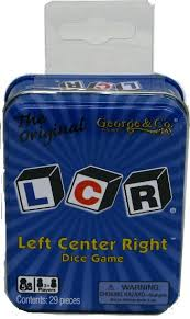 The Game Room Store - buy lcr dice game left right center clr rlc the game room