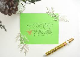 11 creative ways to address christmas cards