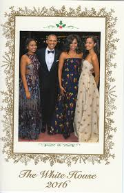 obamas send out their last card from the white house