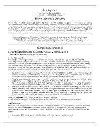 Junior Accountant Resume Sample senior resume samples