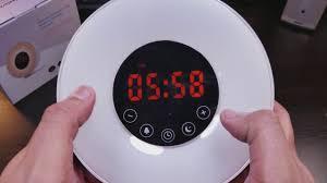 best light up alarm clock sunrise alarm clock by joyful heart best wake up light youtube