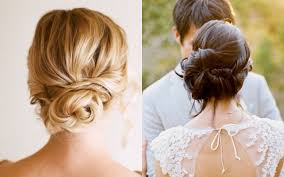 bridal hair bun low updostyles wedding ideas side braided bun hair