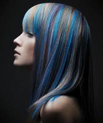 hairstyles with grey streaks amazing grey hairstyle with blue highlights hair make up