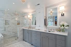 Grey Bathroom Cabinets Excellent Gray Cabinets In Bathroom Traditional 8935 Home