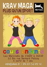 poster pour enfant self defense enfant à rennes apprentissage krav maga pour enfants