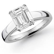 solitaire emerald cut engagement rings 0 95 ct emerald cut solitaire engagement ring egl