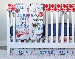Sports Themed Crib Bedding Sports Crib Bedding Etsy
