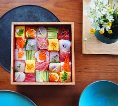 food arrangements mosaic sushi culinary craze turns japanese meals into artistic