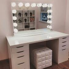 vanity desk with mirror ikea beautiful makeup vanity table and bench broadway lighted desk small