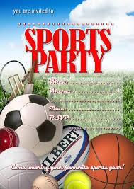 sports party invitations marialonghi com