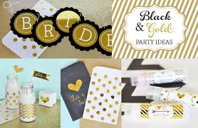 black and gold party decorations black and gold bachelorette party decorations black and gold