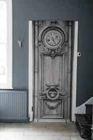 Trompe L Oeil Wallpaper Velvet Parisian Door Trompe L U0027oeil Wallpaper Panel Koziel Home
