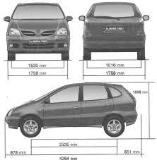 nissan almera 2015 car blueprints nissan almera tino blueprints vector drawings