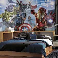 wonderful kids bedroom with superhero wall decals combined open