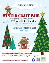 2nd annual winter craft fair at good will hinckley
