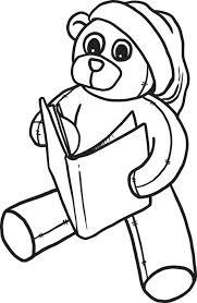 free printable christmas teddy bear coloring kids