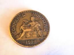 chambre de commerce industrie 50 centimes 1922 coin chambres de commerce 18mm commerce