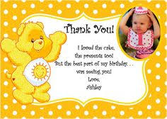 carebears care bears birthday invitation photo cardsbyrosi